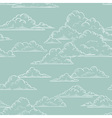 Clouds seamless pattern hand-drawn