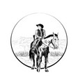 cowboy in headscarf vector image vector image