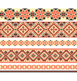 cross-stitch ethnic Ukraine pattern vector image