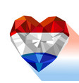 crystal gem jewelry dutch heart vector image