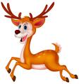 Cute deer cartoon running vector image vector image