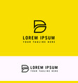 d letter logo minimal line design business icon vector image