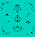 decorative design elements border and page rules vector image vector image