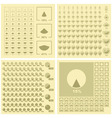 diagram set vector image vector image