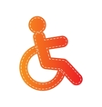 Disabled sign Orange applique vector image vector image