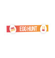 easter party and egg hunt banner vector image vector image