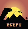 egypt trip in colorful vector image vector image