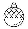 fir tree ball icon outline style vector image