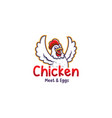 fried chicken restaurant logo template vector image