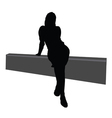 girl sitting on the fence vector image vector image