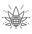 global marijuana leaf logo outline style vector image vector image