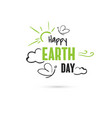 happy earth day with butterflies vector image vector image