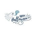 happy halloween postcard template spook character vector image vector image