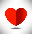 heart background for valentines day design vector image vector image