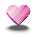 heart trendy pink heart isolated on white vector image vector image