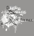 hit ball vector image vector image