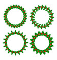 holly leaves berries wreaths frames set vector image vector image