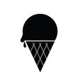 Icecream Icon Black vector image vector image