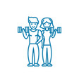 joint sports activity linear icon concept joint vector image