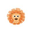 lion head animal face cartoon isolated baby vector image vector image