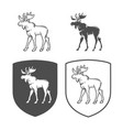 logo of elk on a white background vector image vector image