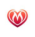 love letter m logo vector image vector image