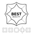 medal award best quality stars outline silhouette vector image