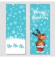 Merry Christmas design vertical background set vector image