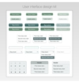 Modern user interface screen template kit for vector image vector image