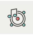 Music Tambourine thin line icon vector image vector image