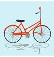 Orange Bicycle on light blue background vector image