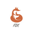 orange fox icon vector image