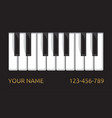 piano business card vector image vector image