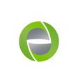 planet logo orbit and satellite logo cosmos logo vector image