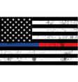 police and firefighter american flag background vector image vector image