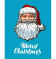 Portrait Santa Claus Merry Christmas greeting vector image vector image