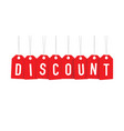 red discount tag vector image vector image