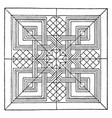 renaissance square panel is a dark line pattern vector image vector image
