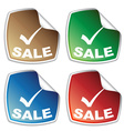 sale colored stickers vector image vector image