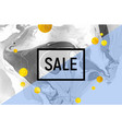 sale poster black and white marble background vector image
