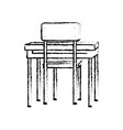 school chair and table design vector image
