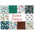 Science seamless patterns vector image vector image