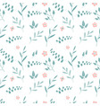 seamless background with branches silver vector image