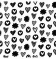 Seamless heart pattern vector image