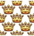 seamless pattern medieval royal crowns vector image