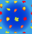 seamless texture in the form of autumn leaves vector image vector image
