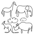 set collection of flat animal vector image vector image