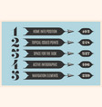 set of infographic design vintage arrows banners vector image vector image