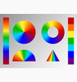 set of rainbow gradients vector image vector image