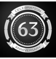 Sixty three years anniversary celebration with vector image vector image
